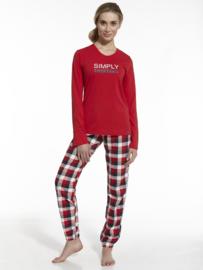 CORNETTE Dames-pyjama SIMPLY TOGETHER, Maten: M, L, XL en XXL.