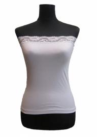 Skinfashion Strapless Dames-Onderhemd S, M, L en XL, Wit en Zwart