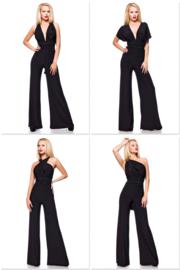 HIPSTYLERS Elegante Multi-Style Overall in zwart, maten: XS t/m 3XL