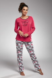 CORNETTE All you need is love pyjama in S, M, L, XL en 2XL