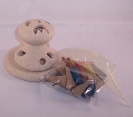 Wierookhouder kegel aardewerk