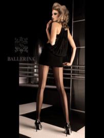 BALLERINA Sexy zwarte panty met naad, Maat S/M en L/XL