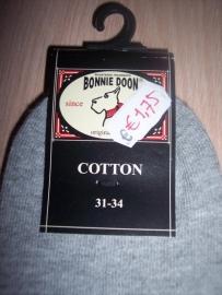 Bonnie Doon Sneakersokken Lichtgrijs Maat 31-34