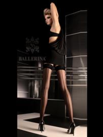 BALLERINA Sexy zwarte hold-ups met naad, Maat S/M en L/XL