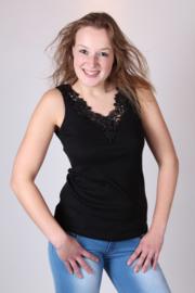 TOKER ZWART dames onderhemd in vele kleuren en maten verkrijgbaar !