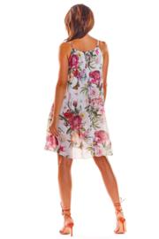 AWAMA Fashion for Women Trendy Zomerjurkje Wit, maat S/M en L/XL