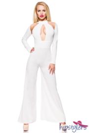 HIPSTYLERS Elegante, witte overall in de maten XS t/m 3XL
