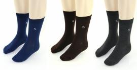 YVES DORSEY heren sokken effen, 3 paar, antra/zwart/kobalt, 39/42 en 43/46!