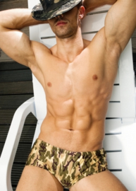 ALPHA MALE STYLO MORO Zwemboxer in army print, S, M