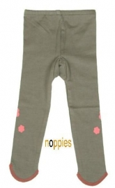NOPPIES Baby-legging Taupe Flowers Maat: 80 en 104