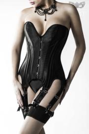 GREY VELVET Zwarte Corsage inclusief string S,M, L, XL, 2XL en 3 XL !