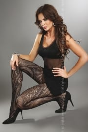 LIVCO CORSETTI Trendy zwarte panty Alessia, maat S/L