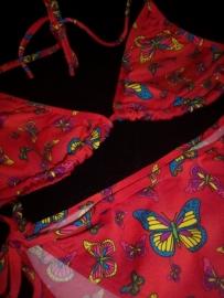 Leuke Rode Bikini Butterfly