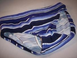 Zwembroek Blauw Streep Maat 86/92