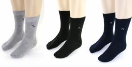 YVES DORSEY heren sokken effen, 3 paar, grijs/zwart/marine, 39/42 en 43/46!