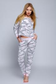 SENSIS Leuke pyjama ARMY in Grijs/Roze/Wit, Maten: S, M, L.