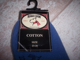 Bonnie Doon Sneakersokken Blauw Maat 23-26