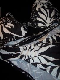 Trendy Zwart/Witte Push Up Bikini met Voorgevormde Cups