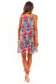 AWAMA Fashion for Women Trendy Zomerjurkje Pink, maat S/M en L/XL