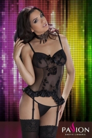 PASSION Corselet HANA Zwart in de maten: S/M en L/XL
