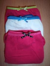 Set van 3 slipjes in trendy kleurtjes Maat Large