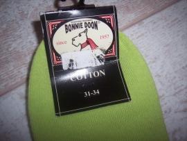 Bonnie Doon Sneakersokken Limegroen 31-34.
