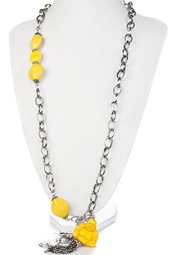 Boeddha ketting - geel