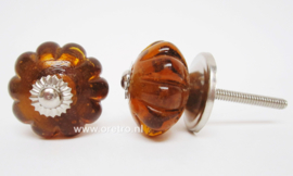 Ladeknop glas amber