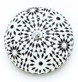 Plafondlamp mozaiek Bohemian zwart wit