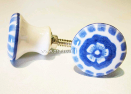 Ladeknopje blauwe bloem