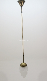 Hanglamp textielsnoer met glas vlam