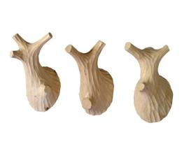 Kapstokhaken Twigs hout