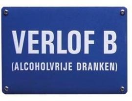 Blikken bordje Verlof B