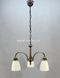 Hanglamp met 3 kelken wit