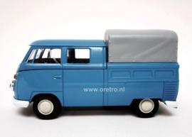 VW bus T1 Pickup huif blauw