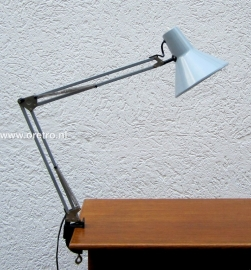 Architectenlamp grijs klemlamp