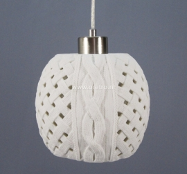 Hanglamp keramiek breiwerk bol
