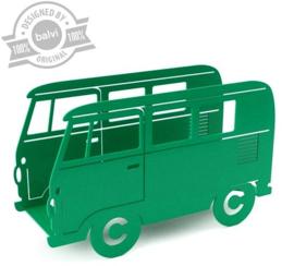 Tijdschriftenrek VW bus groen