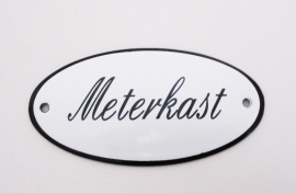 Emaille bordje Meterkast