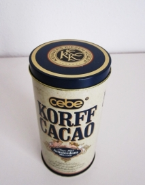 "Blik Korff""s cacao smal"