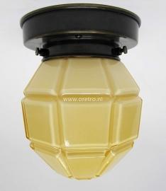 Plafonnière Artdeco ruit geel