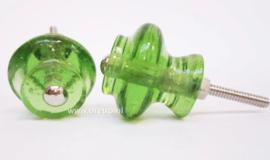 Ladeknop glas groen