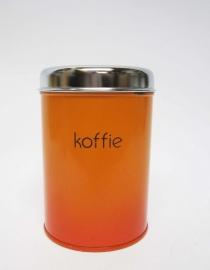 Blik koffie oranje
