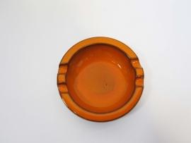 Asbak oranje/bruin