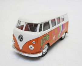 VW bus T1 oranje Hippie