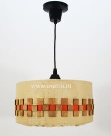 Hanglamp met jute en hout