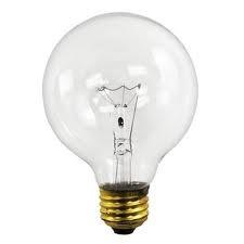 Globe gloeilamp helder 95 mm 25 watt