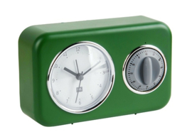 Tafelklok Nostalgia met timer