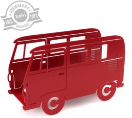 Tijdschriftenrek VW bus rood