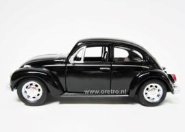 Modelauto VW kever zwart  1:34